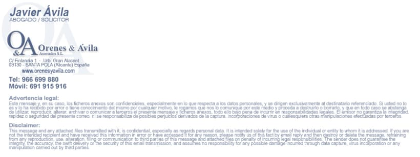 Imagen Corporativa Administración de fincas: Orenes & Avila 6