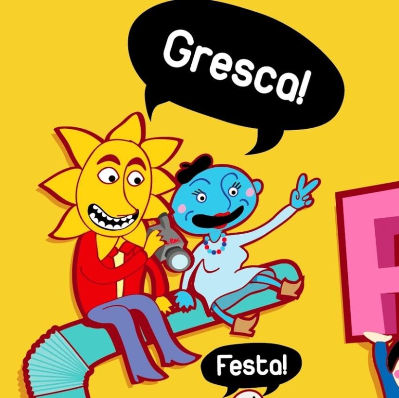 cartel Festa Major de Gràcia - Bcn 6