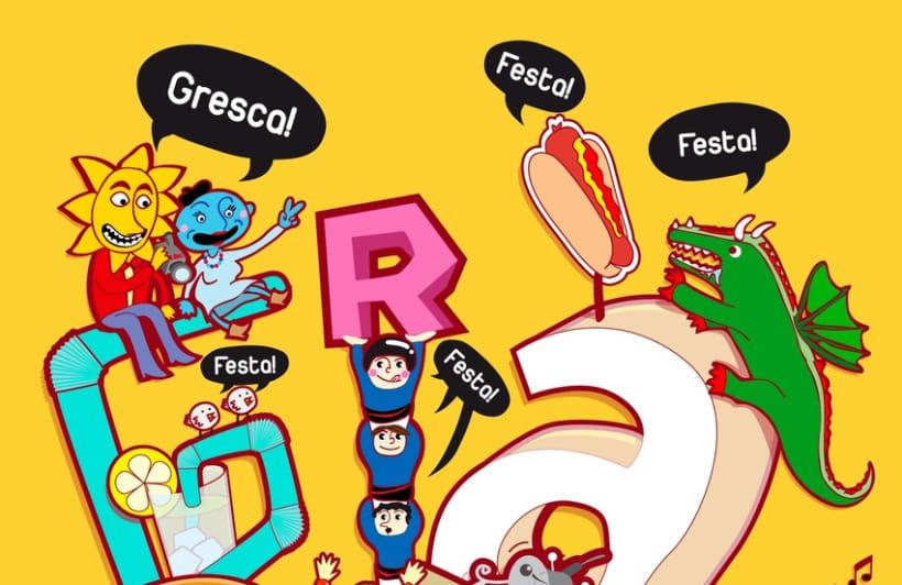 cartel Festa Major de Gràcia - Bcn 2