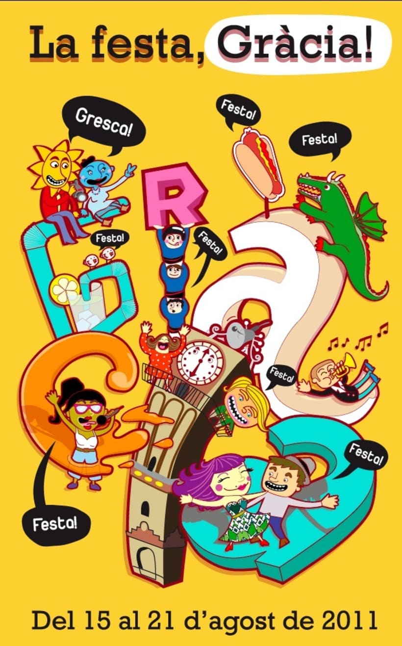 cartel Festa Major de Gràcia - Bcn 1