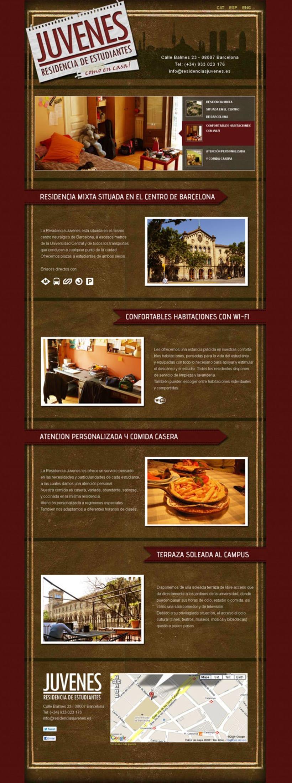 Residencias Juvenes website 1