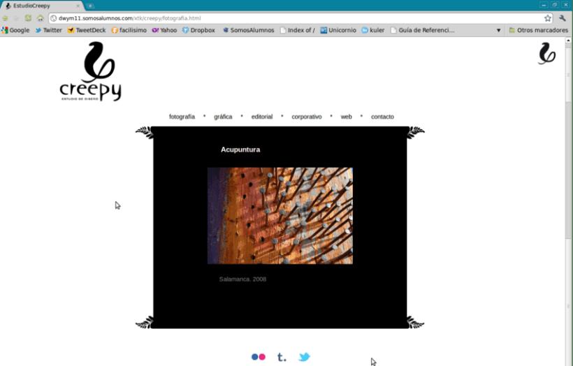 Diseño web Creepy 1
