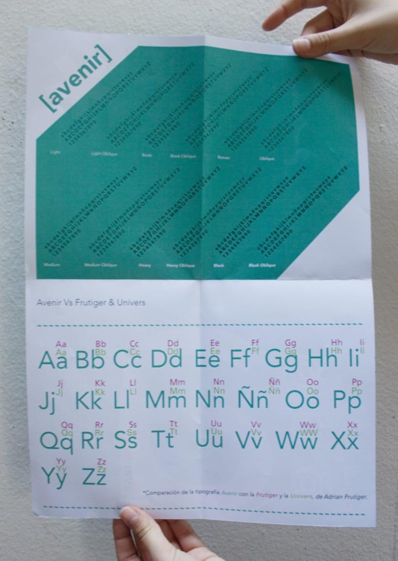 Espécimen de Avenir // tipografía de Adrian Frutiger 8