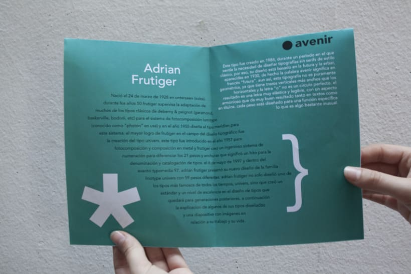 Espécimen de Avenir // tipografía de Adrian Frutiger 6