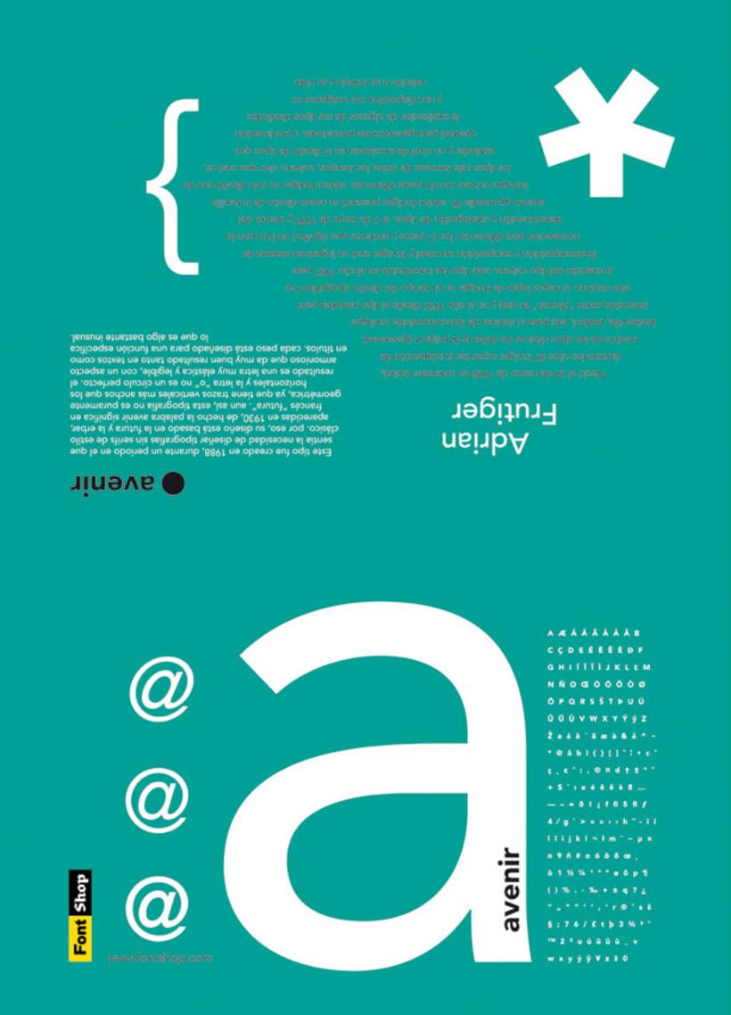 Espécimen de Avenir // tipografía de Adrian Frutiger 2