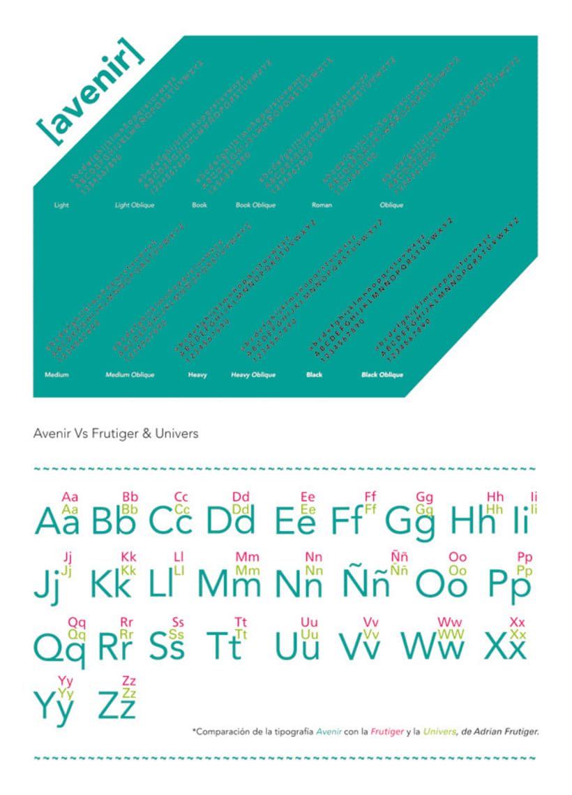 Espécimen de Avenir // tipografía de Adrian Frutiger 3