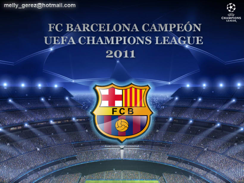 Barcelona Campeón Uefa Champions League Wembley 2011 1