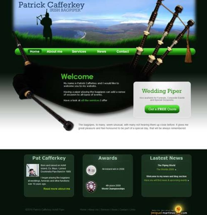 Patrick Cafferkey Irish Piper Hire 1