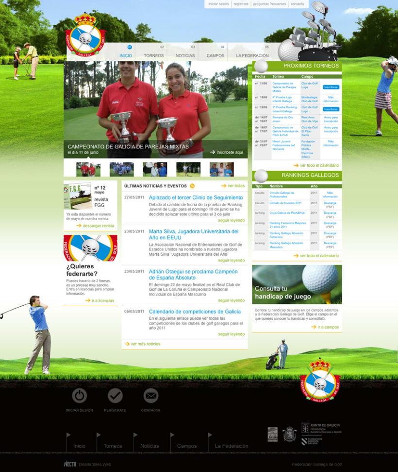 Web Federación Gallega de Golf 2