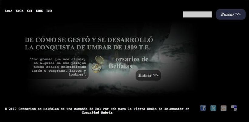 Sitio web: Corsarios de Belfalas 3