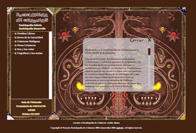 Sitio web: Enciclopedia De Criaturas 2