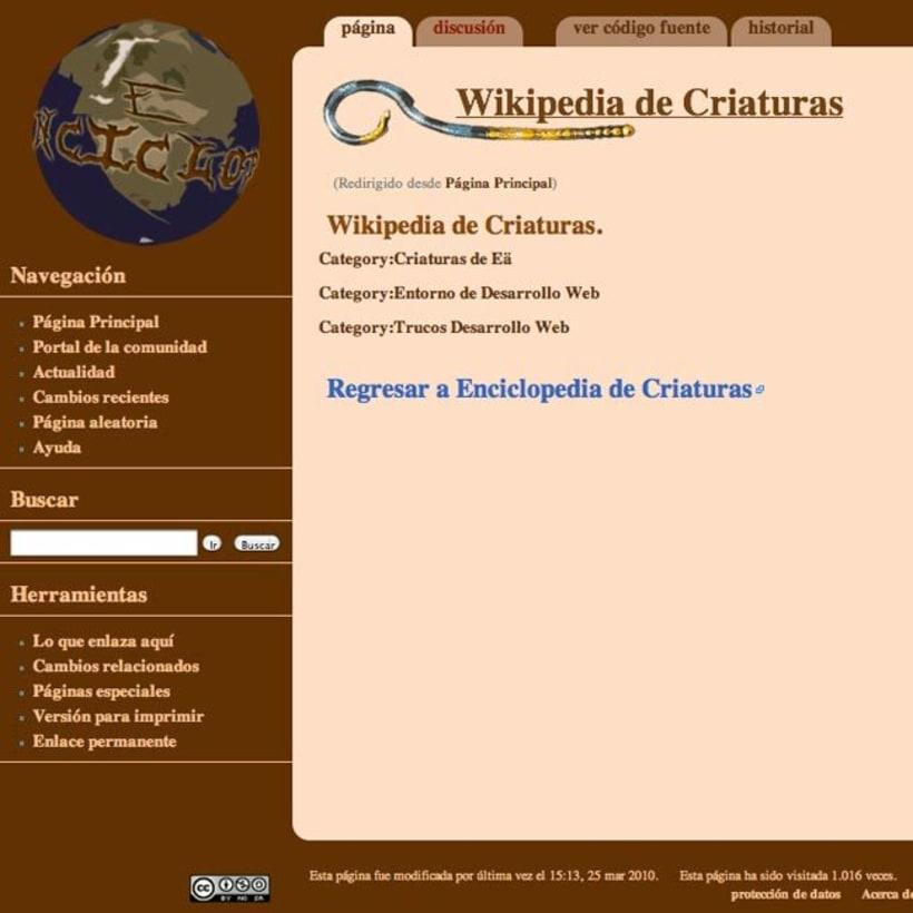Sitio web: Enciclopedia De Criaturas versión AJAX 9