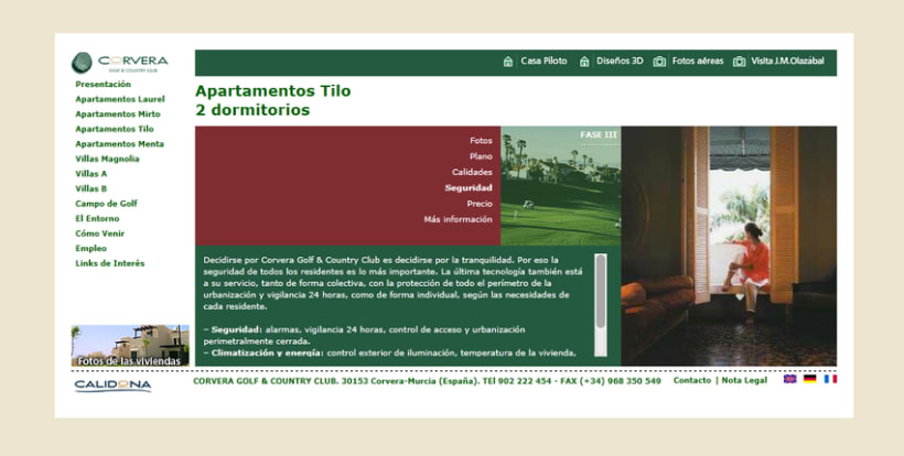 Web Corporativa Corvera Golf & Country Club 3