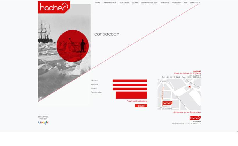 Hache2i, logotipo, tarjetas, material corporativo y página web. 7