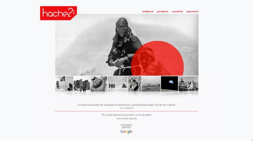 Hache2i, logotipo, tarjetas, material corporativo y página web. 5