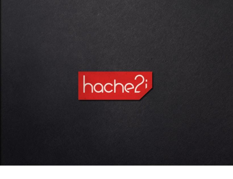Hache2i, logotipo, tarjetas, material corporativo y página web. 2