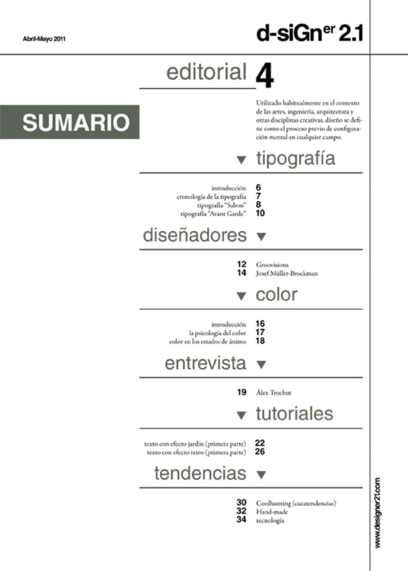 Maquetación y diseño revista 3