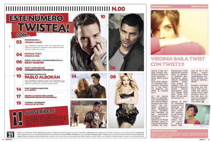 Twist21 Magazine. Diseño Editorial 5