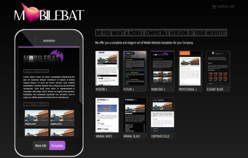 Mobilebat - WordPress mobile website templates plugin 1