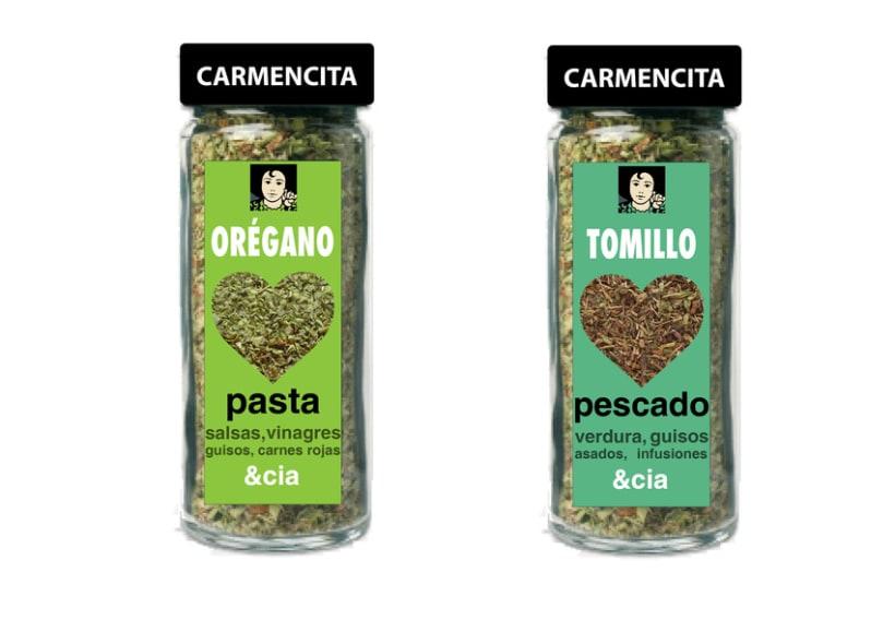 Diseño de packaging Carmencita Especias 2