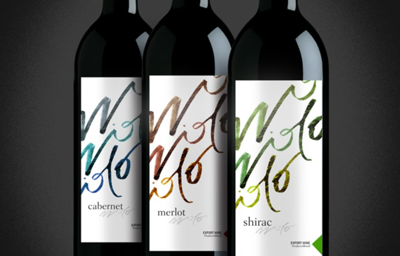 Calligraphic Wine Label 1