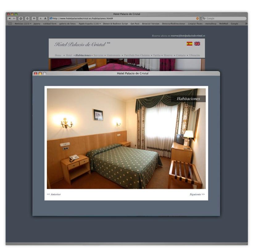 Página web Hotel Palacio de Cristal 4