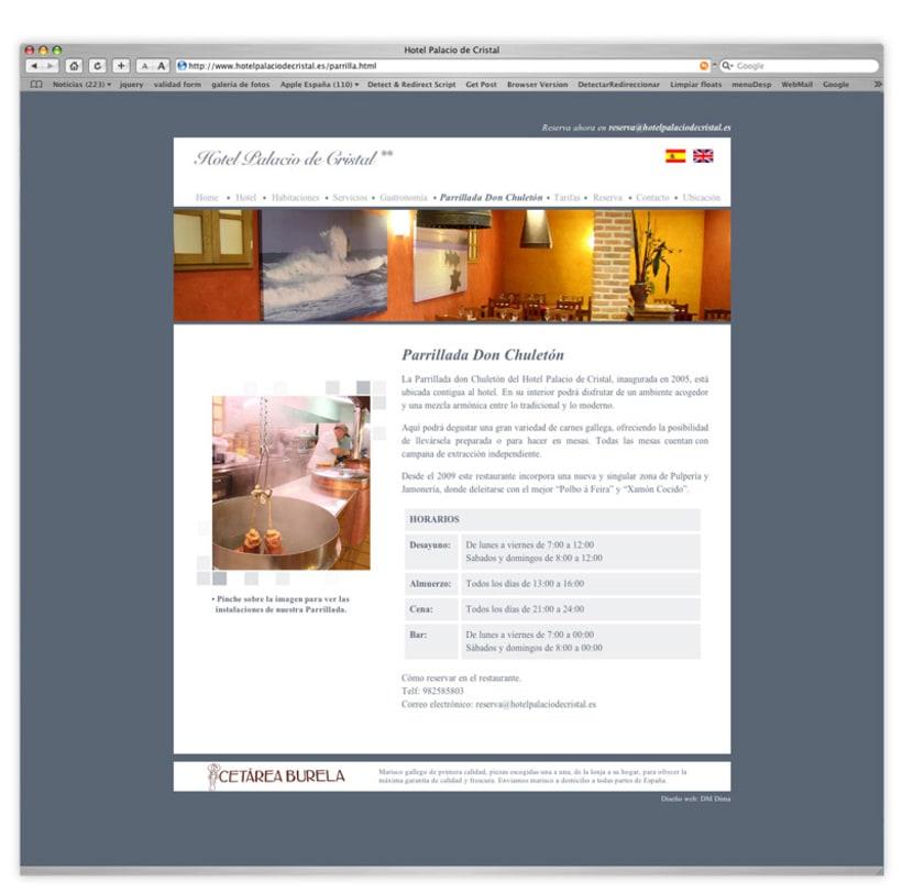 Página web Hotel Palacio de Cristal 2