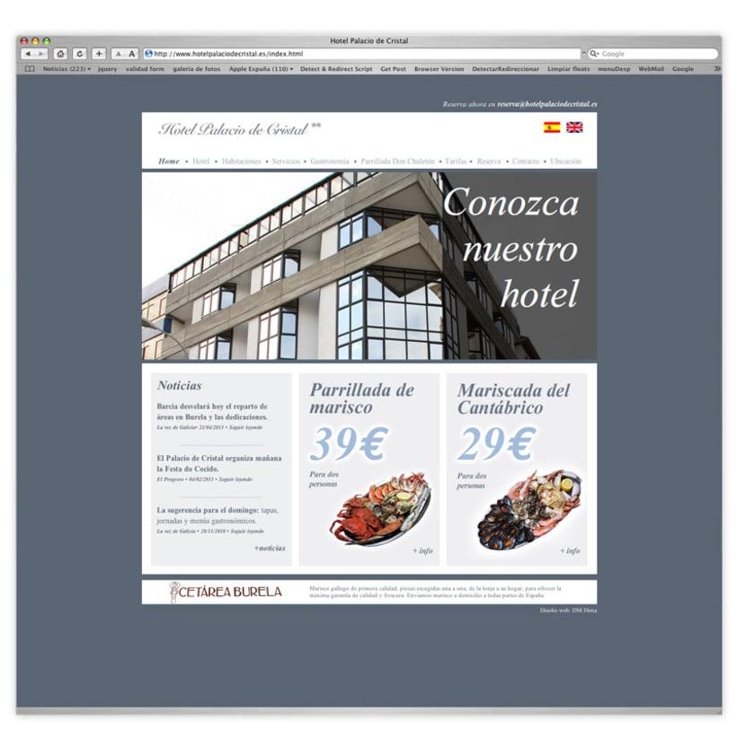 Página web Hotel Palacio de Cristal 1