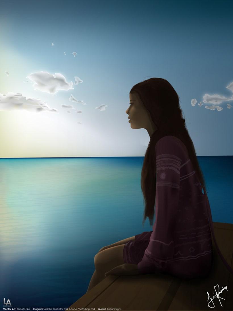 Girl At Lake 1
