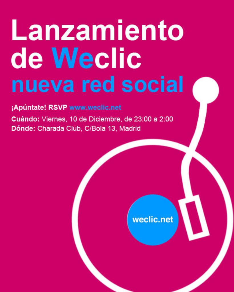 Cartel lanzamiento Weclic 3