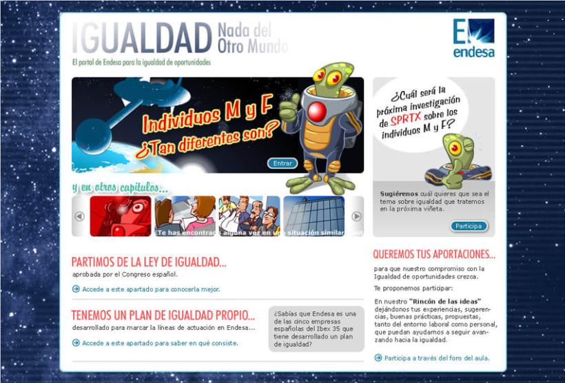 E-learning: cómic interactivo Igualdad 3