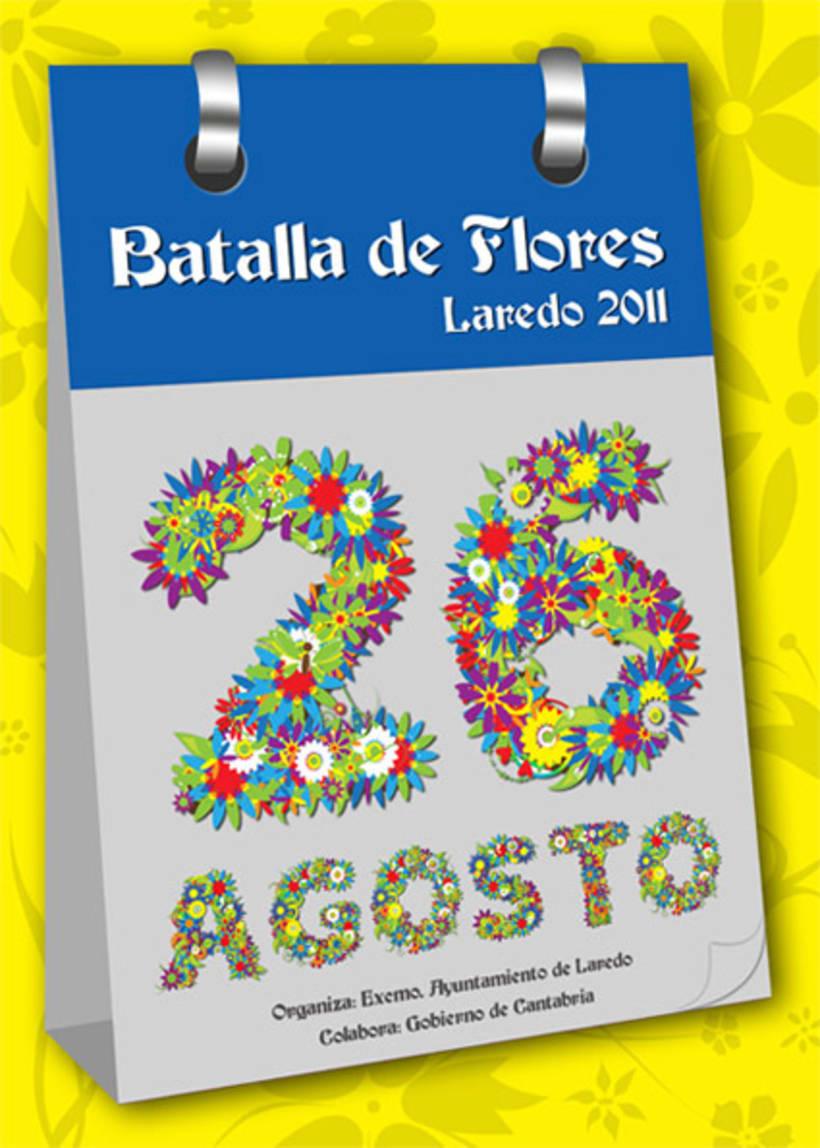 Propuesta cartel BATALLA DE FLORES 2011 2