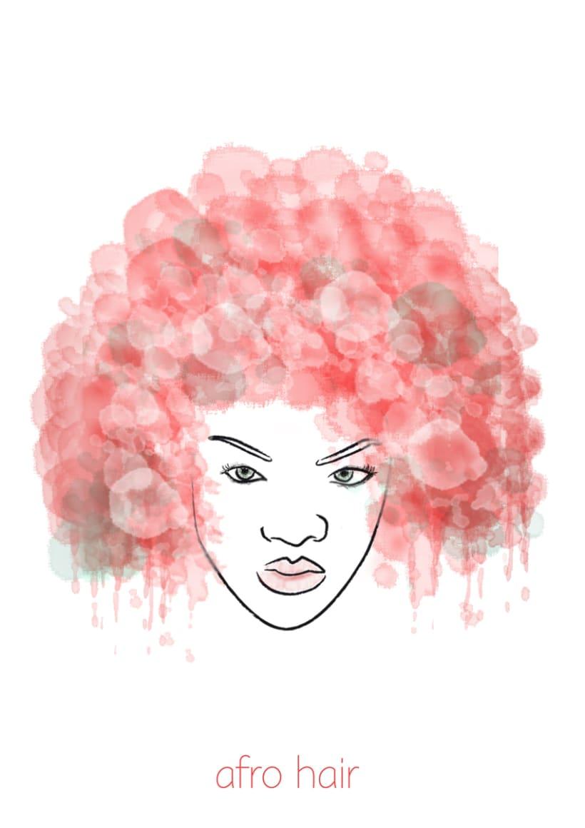 Ilustración: Afro Hair 1