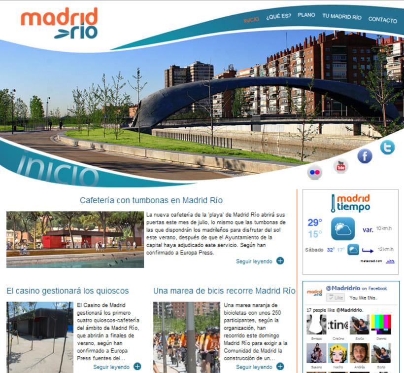 Sitio web Madrid Río 2