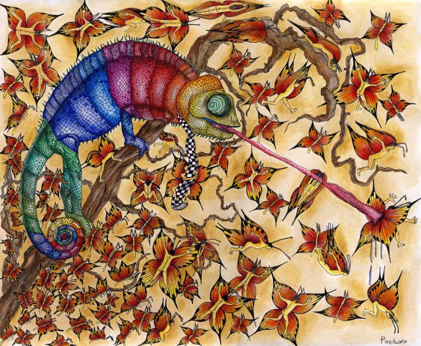 Trippy chameleon 1