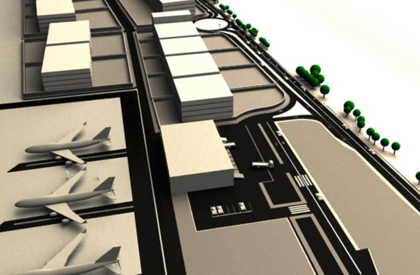 3D - Zona aeroportuaria Zaragoza 2