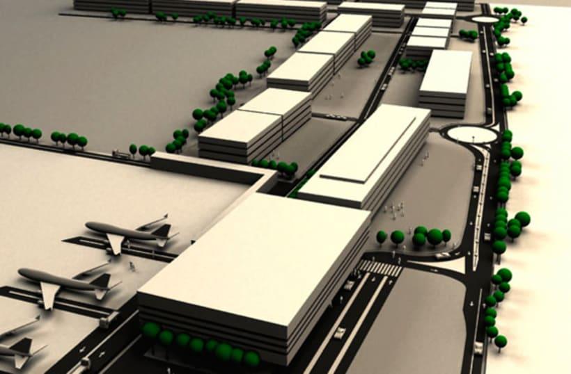 3D - Zona aeroportuaria Zaragoza 3