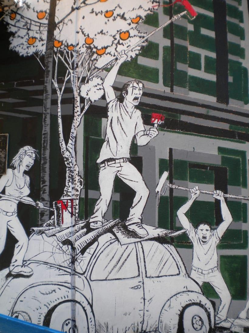 """Mural """"Revolución"""" en la F.E.G. 18"""