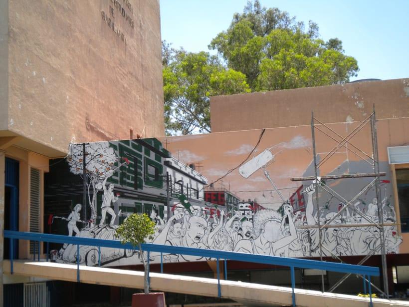 """Mural """"Revolución"""" en la F.E.G. 12"""