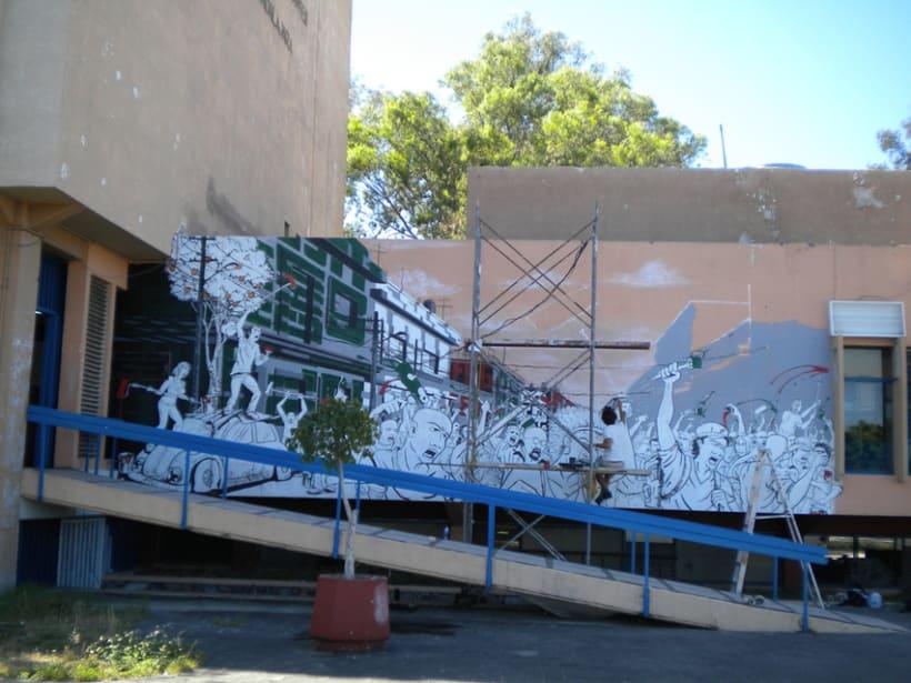 """Mural """"Revolución"""" en la F.E.G. 11"""