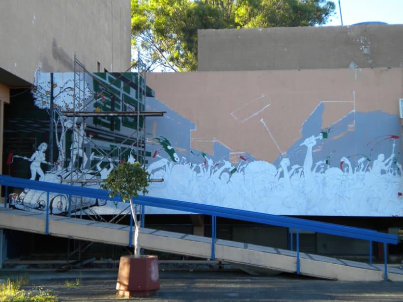 """Mural """"Revolución"""" en la F.E.G. 9"""