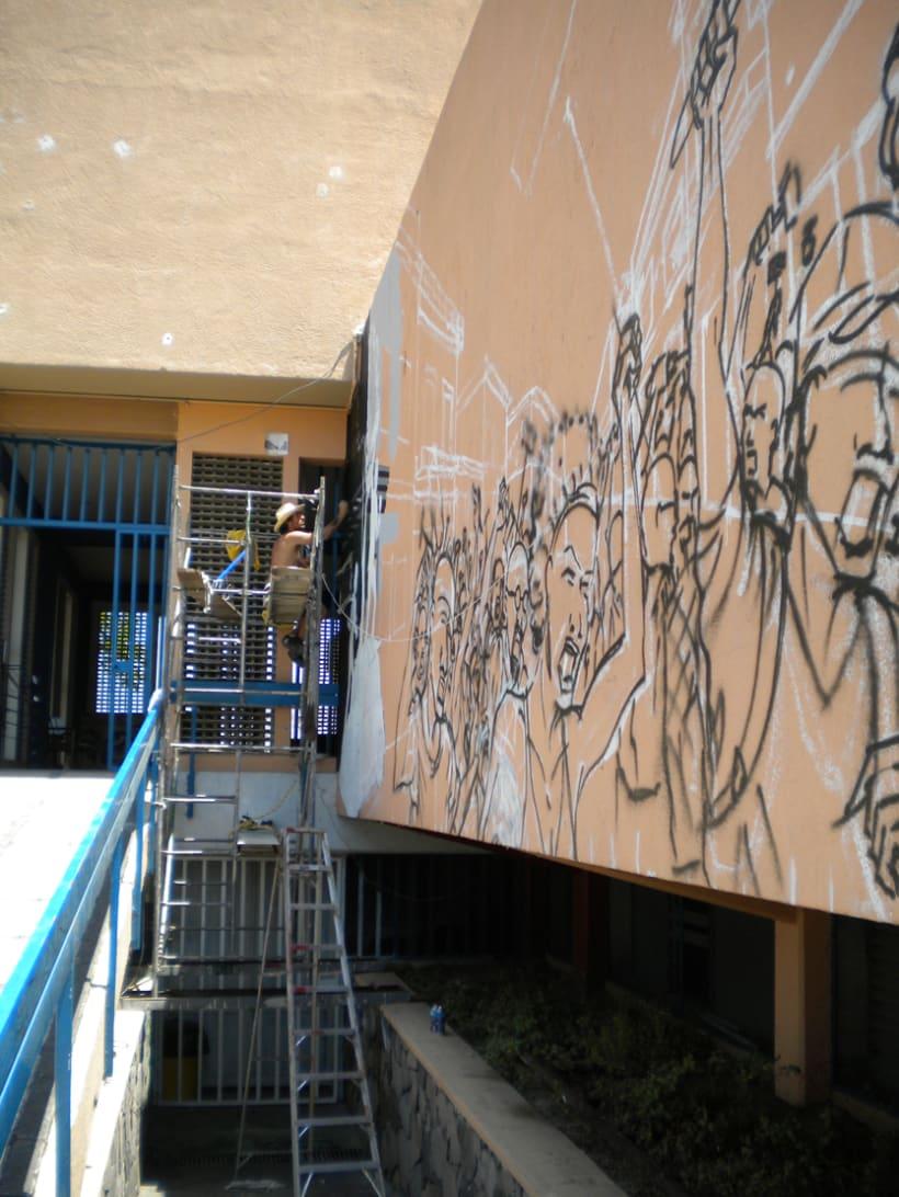 """Mural """"Revolución"""" en la F.E.G. 8"""