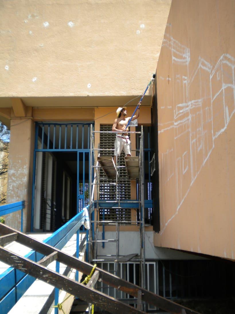 """Mural """"Revolución"""" en la F.E.G. 7"""