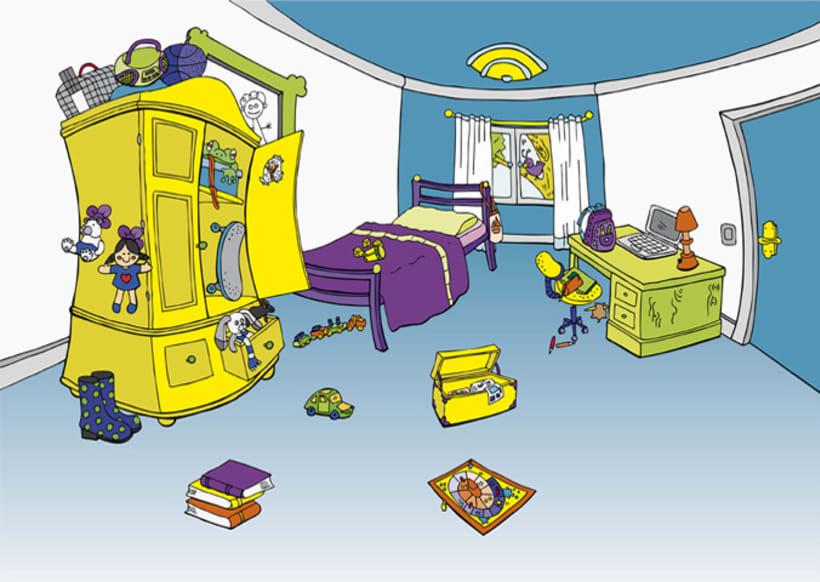 La casa con pegatinas 3