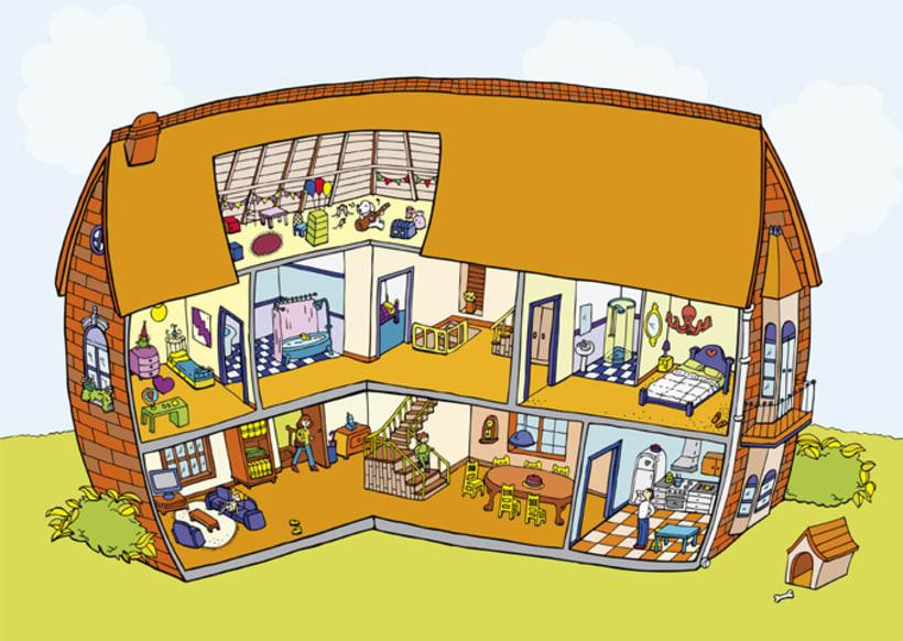 La casa con pegatinas 1