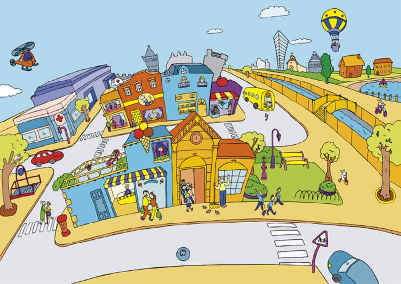 La ciudad con pegatinas 1