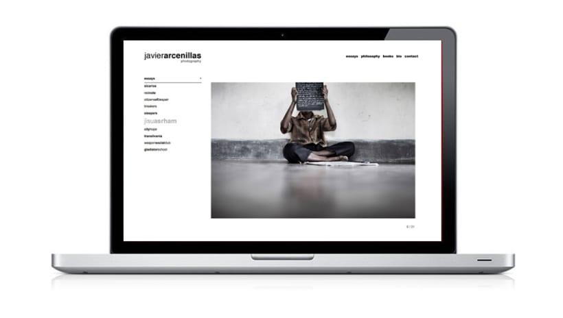 Web site Javier Arcenillas 2