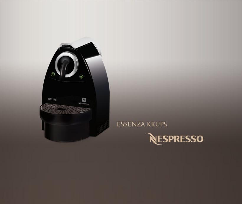 Ilustración de la cafetera de Nespresso 2