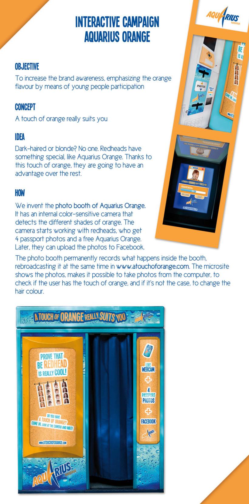Aquarius Orange // Interactive Campaign 2