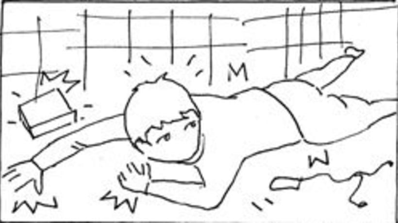 Amateurs, storyboard de la película 66